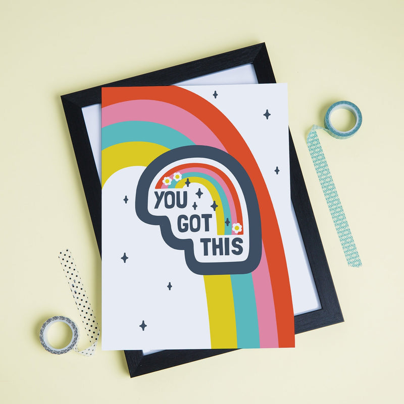 You Got This Positive Rainbow Print