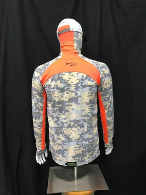 FishHide SportsWear ORIGINAL(With ORANGE) - EARLY DAWN Technical Shirt - PuroPincheCast&Blast Outfitters