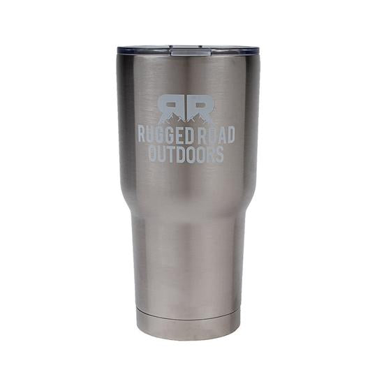 Rugged Road 30 oz Tumbler Silver