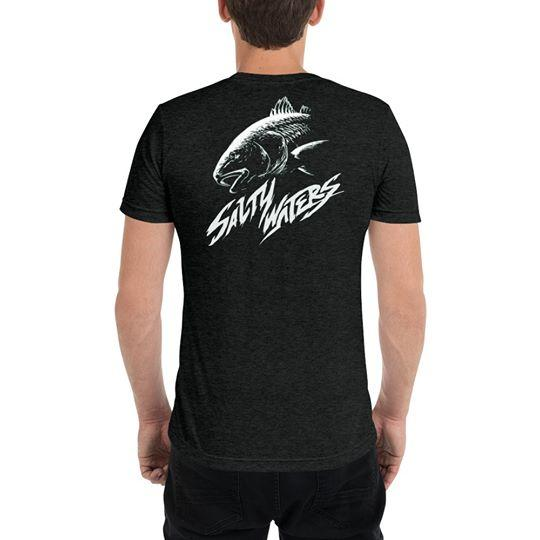 Salty Waters Dark Grey Tee