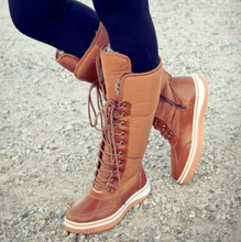 Load image into Gallery viewer, Calfy - Winter Comfy Lace Up Boots