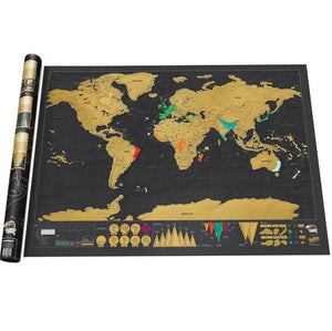 MAPEO World Map Scratch Off Deluxe Edition