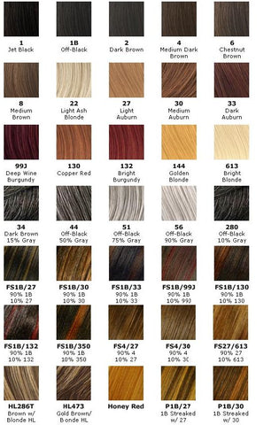 Hair Color Chart 1