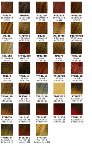 Hair Color Chart 2