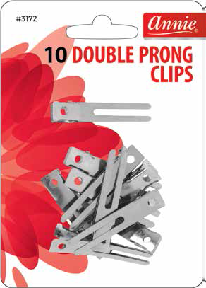 Annie International - Double Prong Clips 10 Count