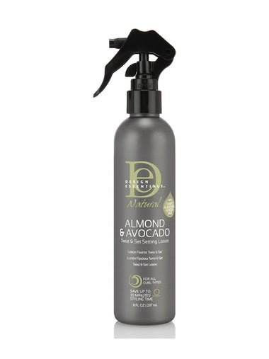 Design Essentials Natural Almond & Avocado Twist & Set Setting Lotion