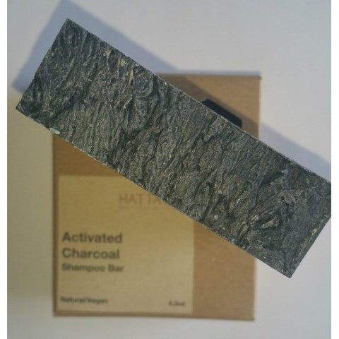 Hattache Natural Soap - Activated Charcoal Shampoo Bar