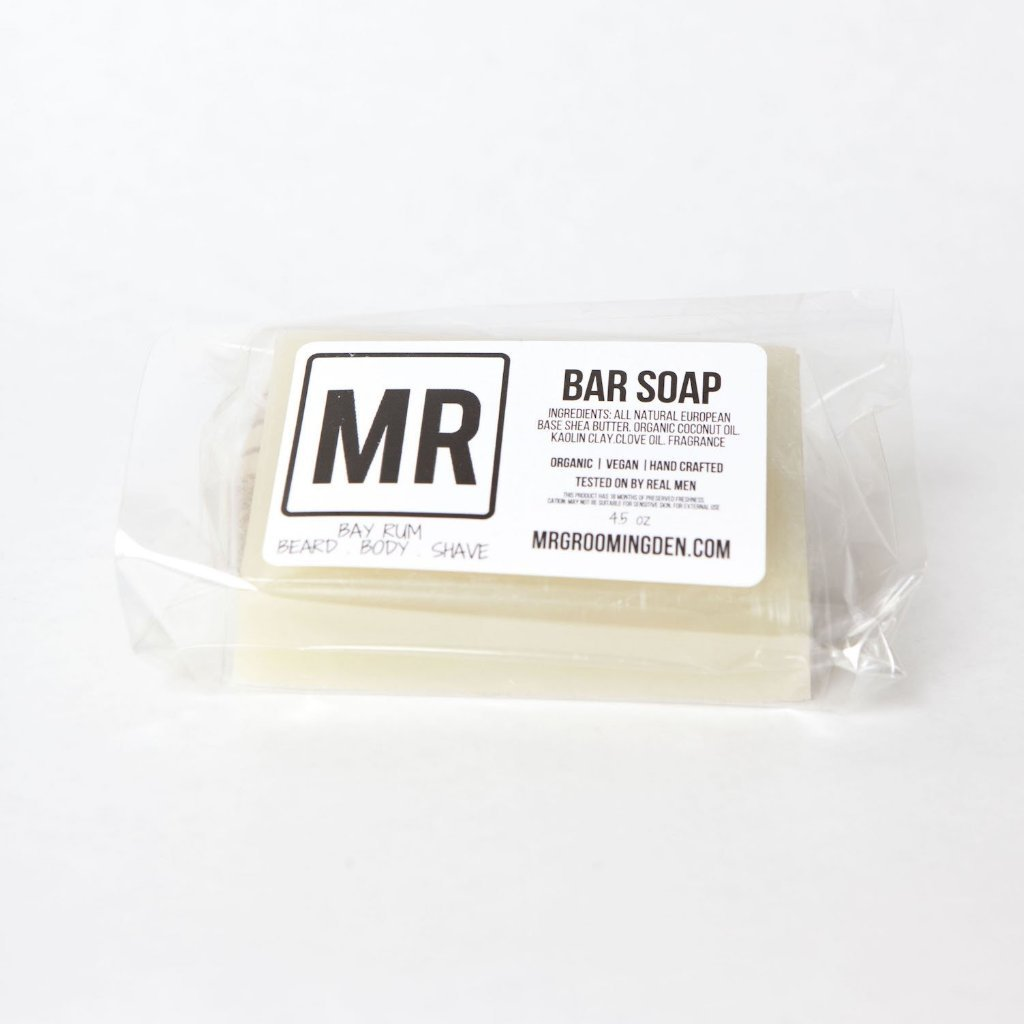 Mr Grooming Den - Beard Body + Shave Soap - Bay Rum bar