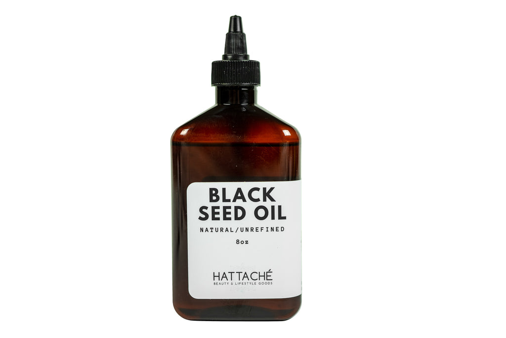 Hattache Natural Oil for Hair + Skin - Black Seed Oil (Unrefined)