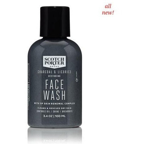 Scotch Porter Charcoal & Licorice Restoring Face Wash