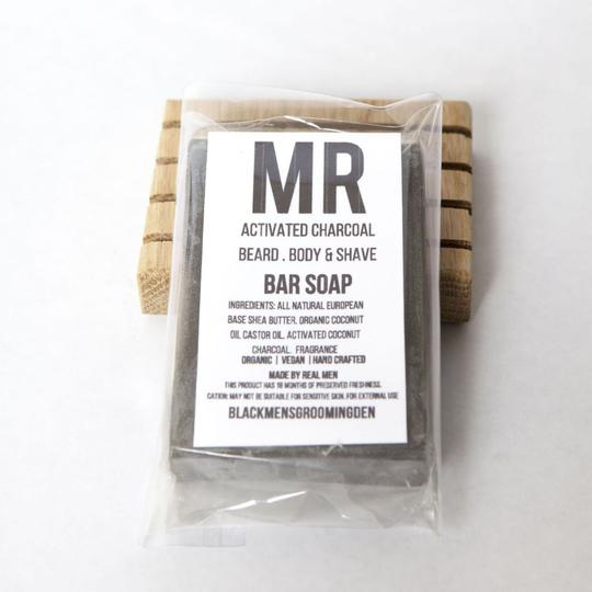 Mr Grooming Den - Beard Body + Shave Soap - Charcoal Bar