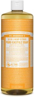 Dr Bronner's 18-in-1 PURE Castile Liquid Soap - Citrus Orange
