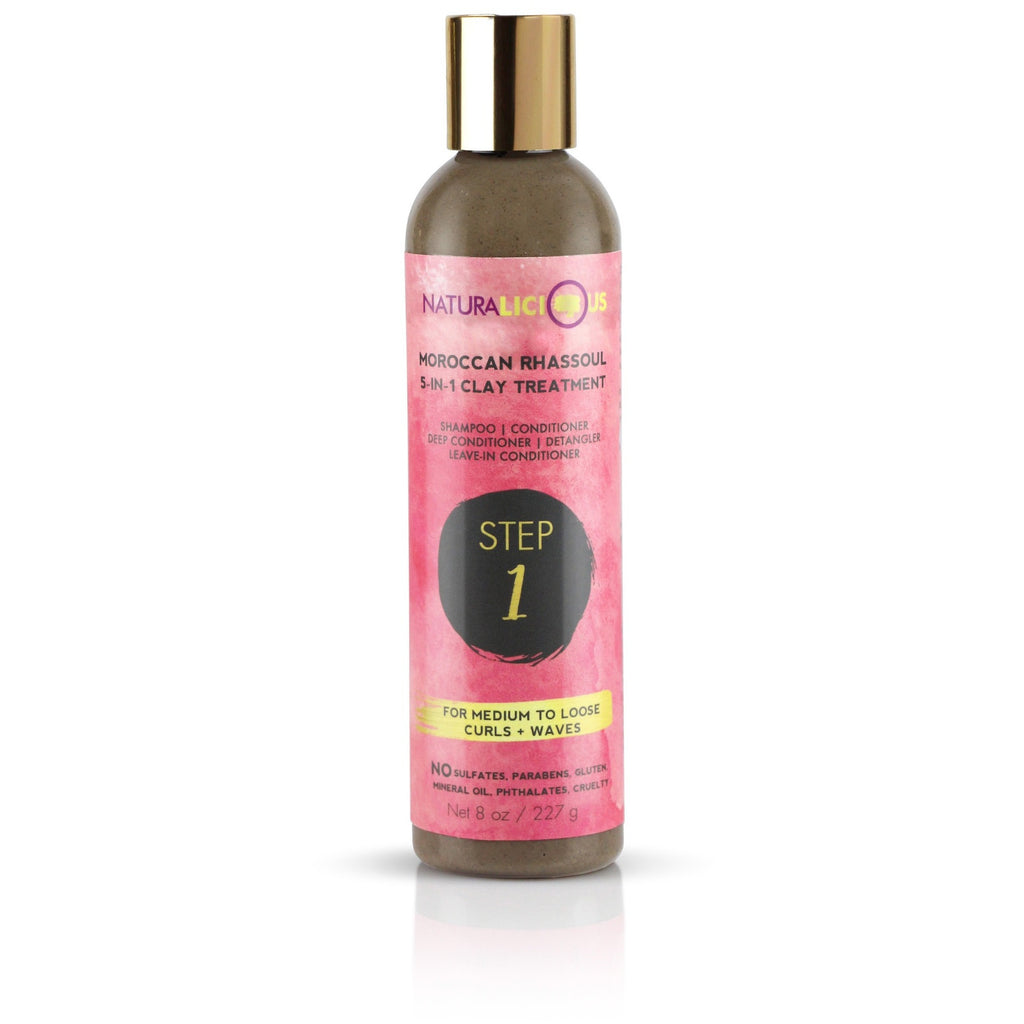 Naturalicious - Moroccan Rhassoul 5-in-1 Clay Treatment (Curly/Wavy)