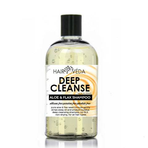 Hairveda Deep Cleanse Aloe & Flax Shampoo
