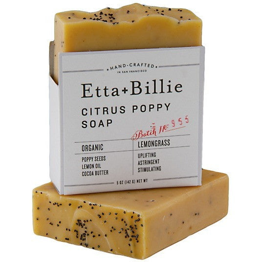 Etta + Billie Citrus Poppy Seed Soap