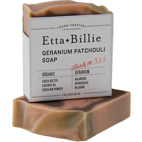 Etta + Billie Geranium Patchouli Soap