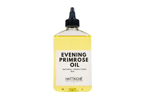 Hattache Natural Oil for Hair + Skin - Evening Primrose (Virgin/Organic 10% GLA)