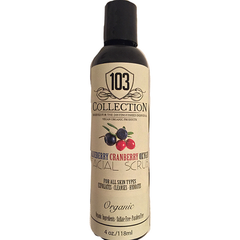 103 Collection - Organic Blueberry Cranberry Oxygen Facial Scrub