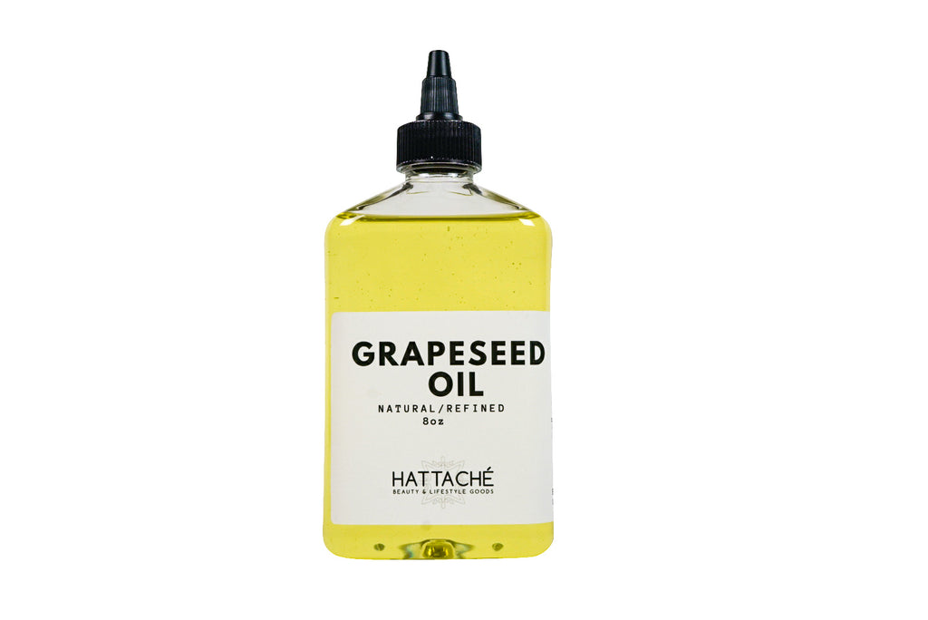 Hattache Natural Oil for Hair + Skin - Grape Seed Oil (Cold Pressed)