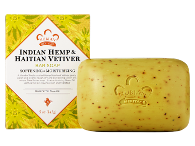 Nubian Heritage - Indian Hemp & Haitian Vetiver Bar Soap