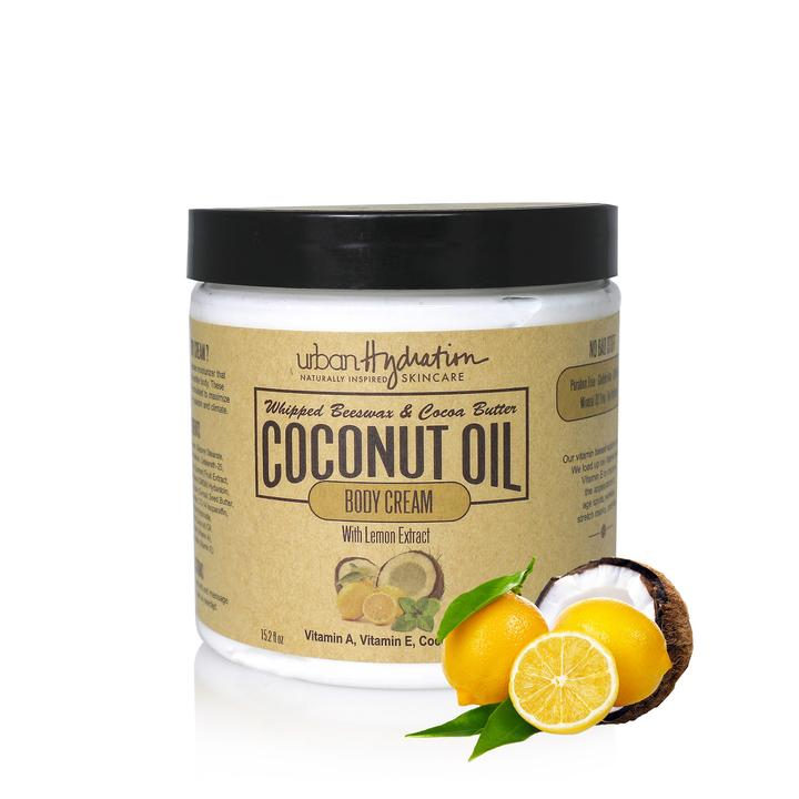 Urban Hydration - Lemon Extract Whipped Coconut Oil Body Cream