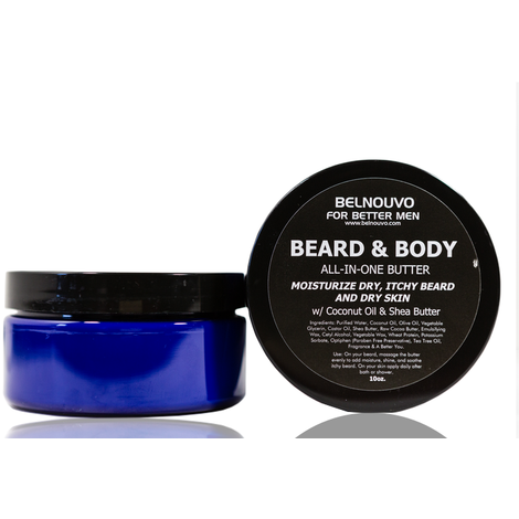 BelNouvo MEN's Beard & Body Butter 10oz