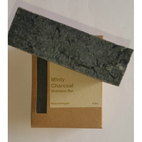 Hattache Natural Soap - Minty Charcoal Shampoo Bar