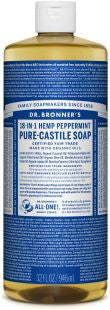 Dr Bronner's 18-in-1 PURE Castile Liquid Soap - Peppermint