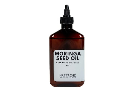 Hattache Natural Oil for Hair + Skin - Moringa Oil (Virgin Organic)