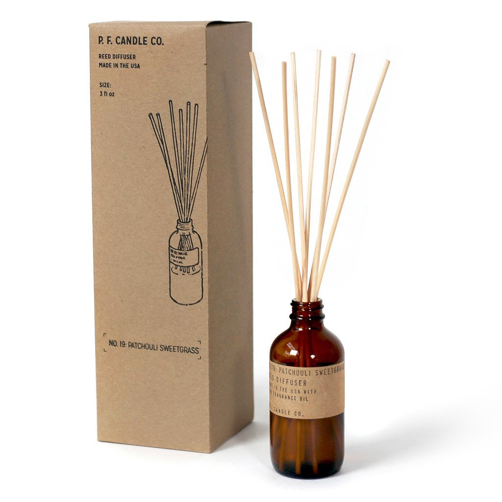 P.F. Candle Co. - Patchouli & Sweetgrass Reed Diffuser