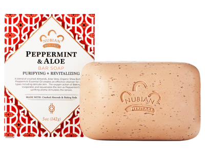 Nubian Heritage - Peppermint & Aloe Bar Soap