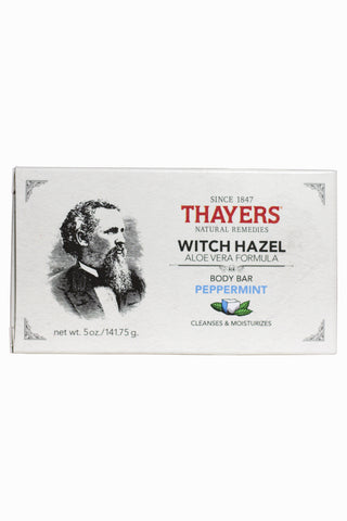 Thayers Peppermint Witch Hazel Body Bar with Aloe Vera