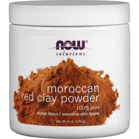 NOW Foods Red Clay Powder Moroccan