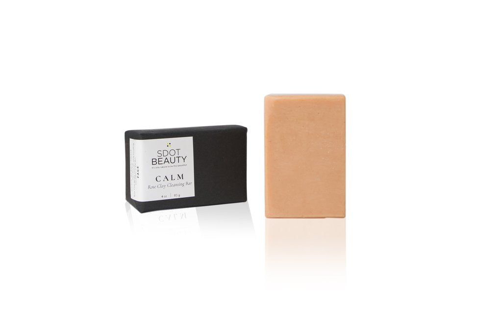 SDOT Beauty - CALM Rose Clay Cleansing Bar