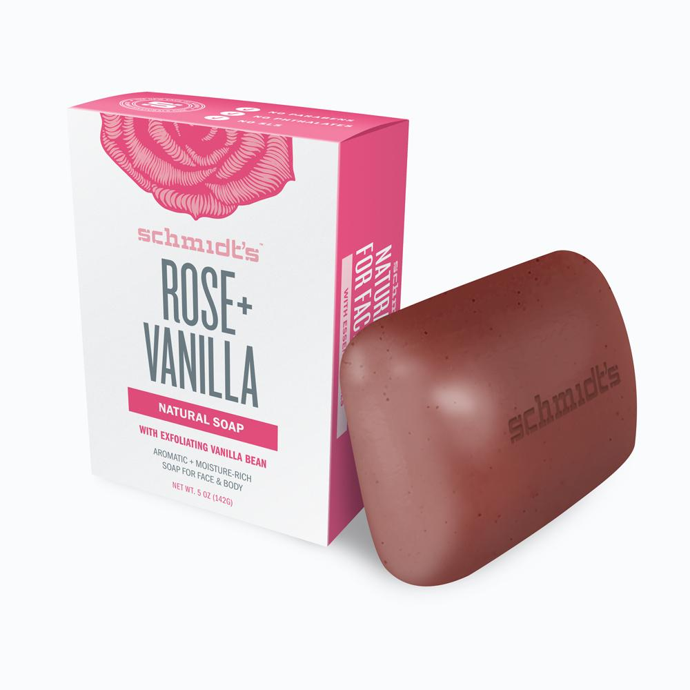 Schmidt's Naturals Rose + Vanilla Soap Bar