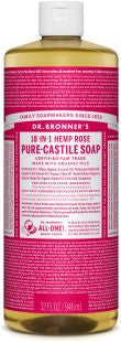 Dr Bronner's 18-in-1 PURE Castile Liquid Soap - Rose