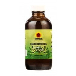 Tropic Isle Living Jamaican Black Castor Oil with SAGE