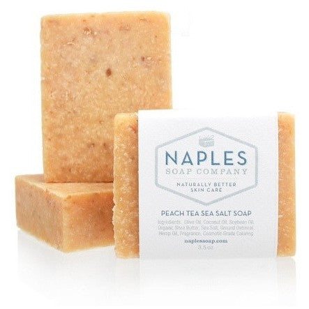 Naples Soap Company Peach Tea Scrub Sea Salt Soap