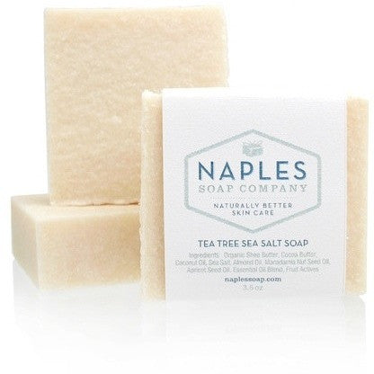 Naples Soap Company Tea Tree Scrub Sea Salt Soap