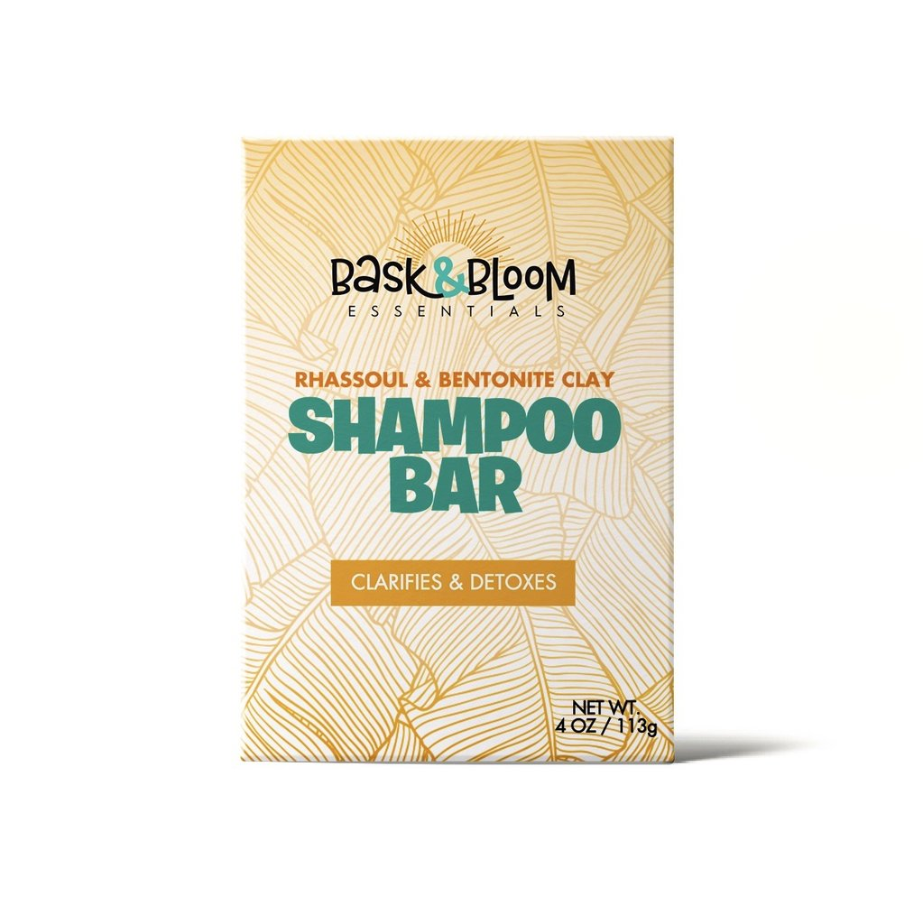 Bask & Bloom - Rhassoul & Bentonite Clay Shampoo Bar