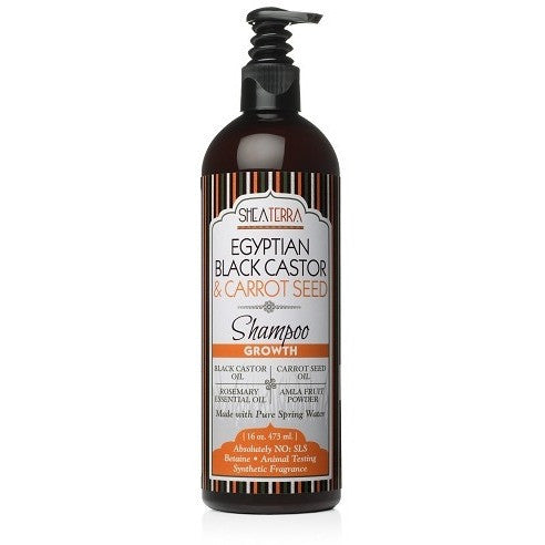 SheaTerra Organics - Egyptian Black Castor & Carrot Seed Natural Shampoo (GROWTH)