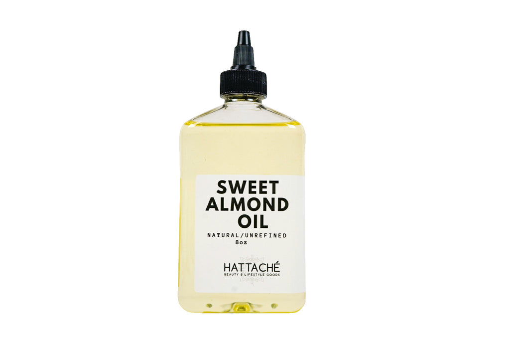 Hattache Natural Oil for Hair + Skin - Sweet Almond Oil (Unrefined)