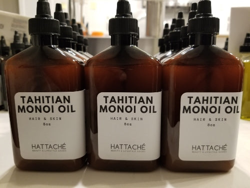 Hattache Natural Oil for Hair + Skin - Tahitian Monoi Oil