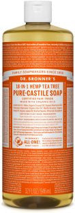 Dr Bronner's 18-in-1 PURE Castile Liquid Soap - Tea Tree
