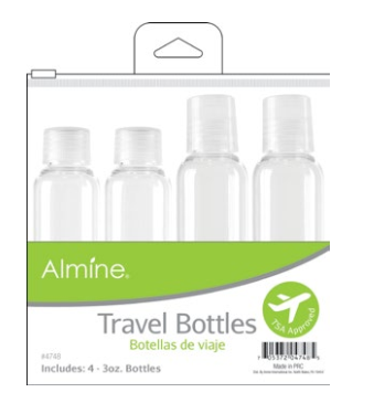 Annie International - Almine Travel Bottles in Pouch