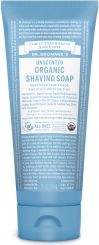 Dr Bronner's Organic Unscented Shaving Soap