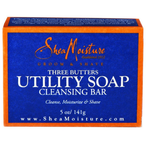 Shea Moisture Men - Three Butter Utility Soap Cleansing Bar