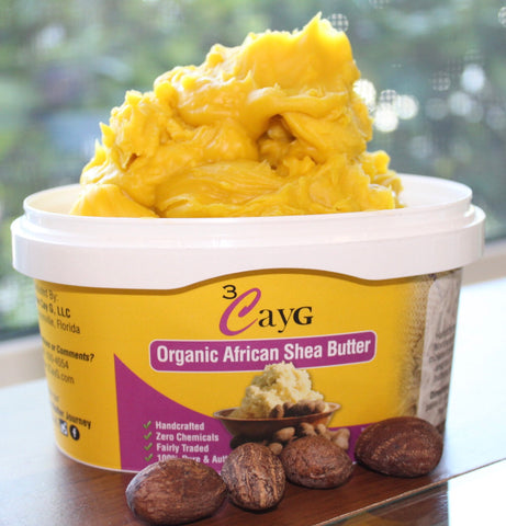 3CayG - Natural Shea Butter - Yellow (with Borotutu)