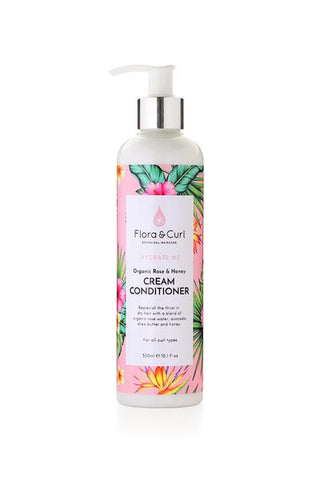 Flora & Curl - Organic Rose & Honey Cream Conditioner