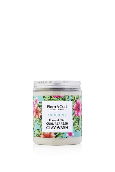 Flora & Curl - Coconut Mint Curl Refresh Clay Wash